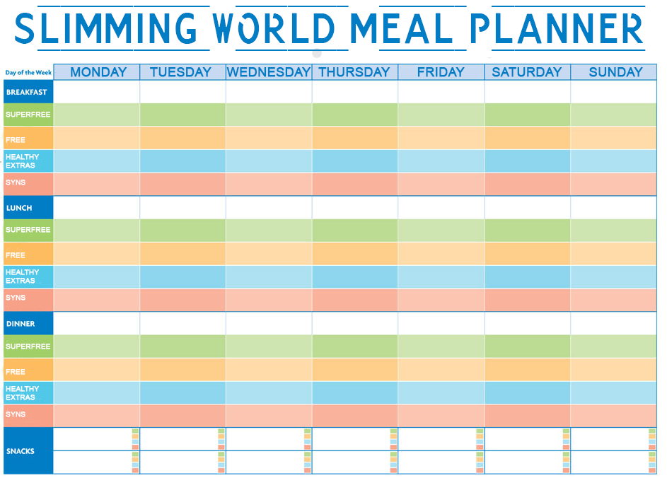 Calendar For 6 Meals Planning Template Search Results