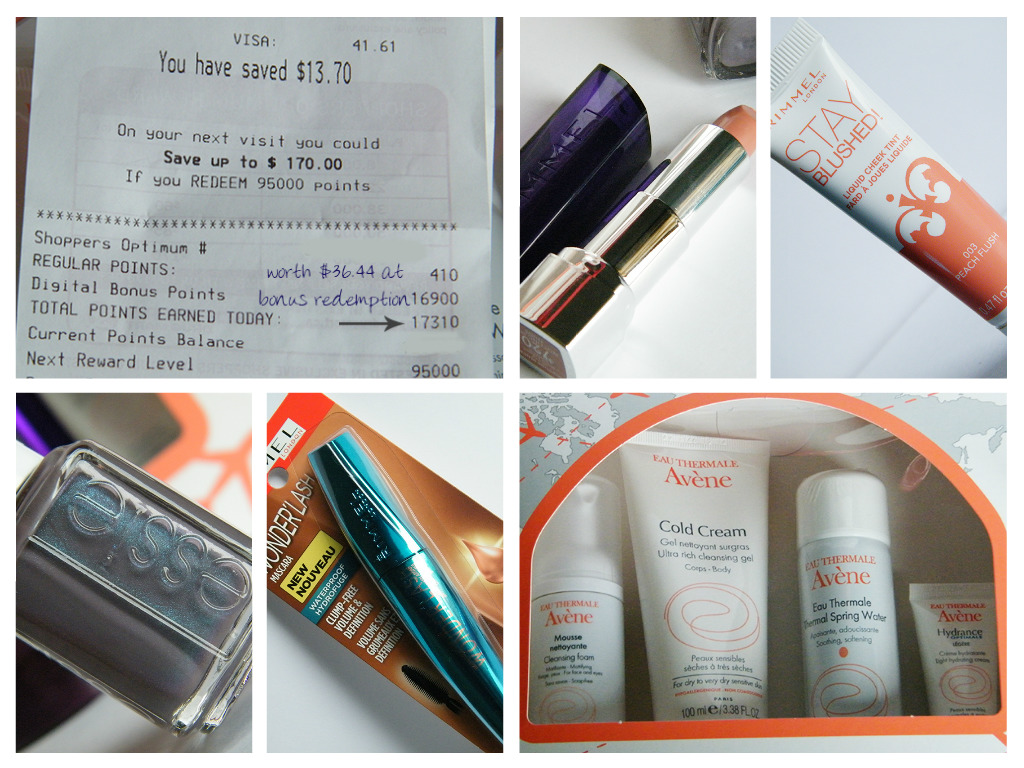 Drug Store Beauty Haul Using Shoppers Drug Mart Optimum Bonus Points