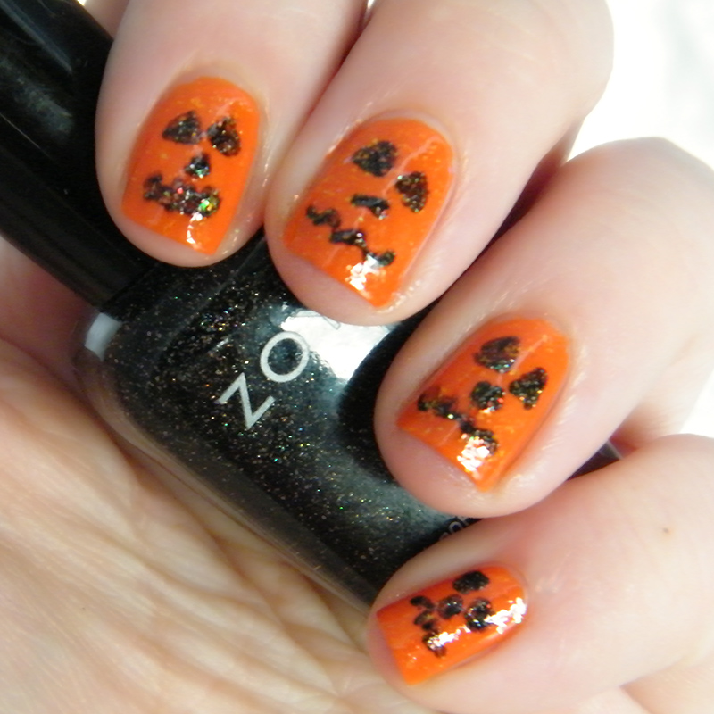 Pumpkin Orange Nail Art CBBOctNails