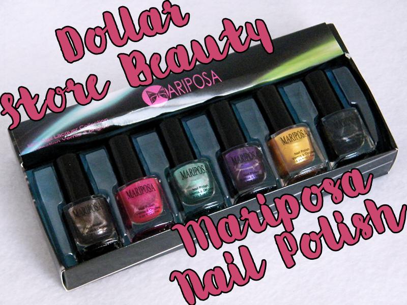 Mariposa Nail Polish Foils Dollarama Packaging