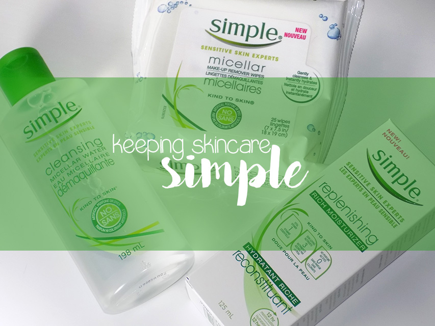 keeping skincare simple header shares