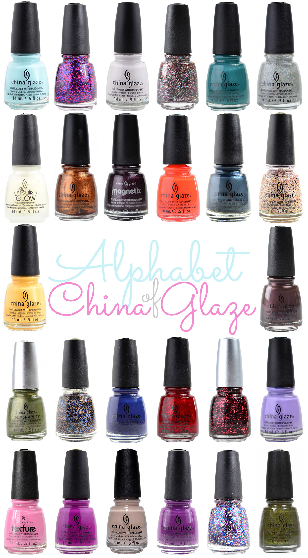 The ABCs of China Glaze Nail Polish - Tea & Nail Polish