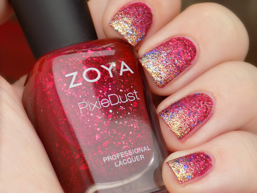 Zoya Oswin and Essie On A Silver Platter Swatch