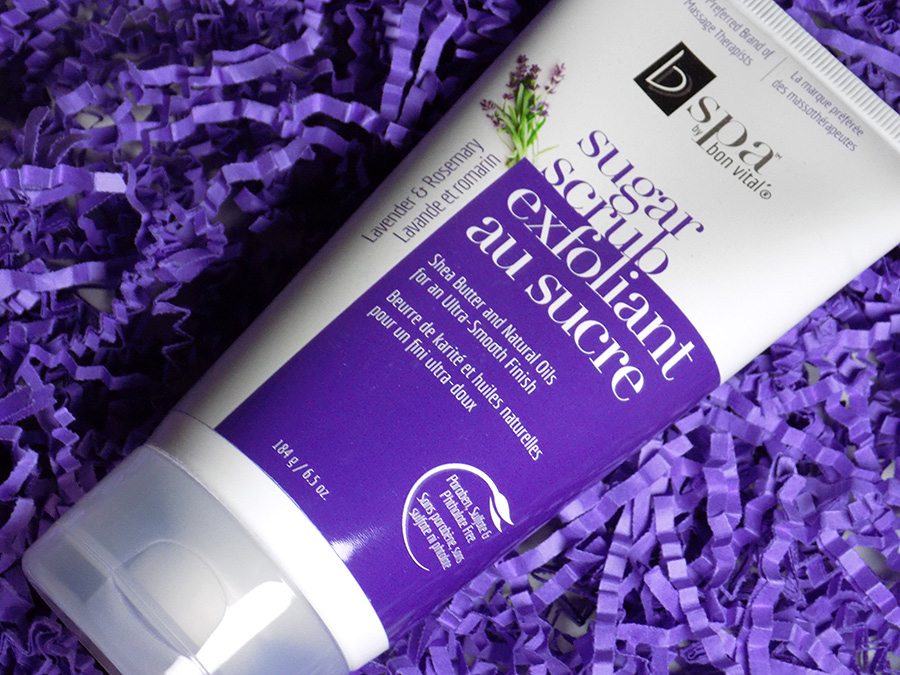 bv spa by bon vital sugar scrub lavender and rosemary shea butter shoppers drug mart