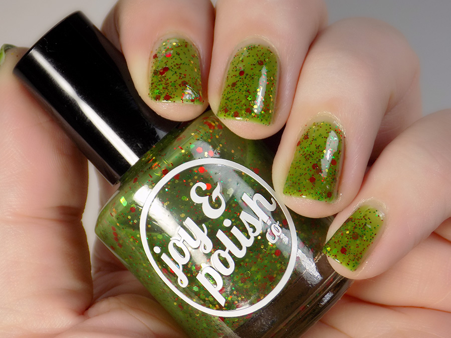 Joy and Polish Co Merry Grinchy Christmas Nail Polish Review and Swatches
