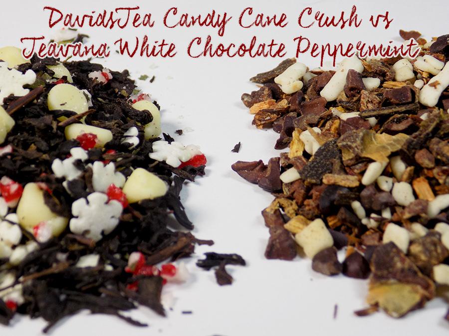 davidstea candy cane crush vs teavana white chocolate peppermint teas