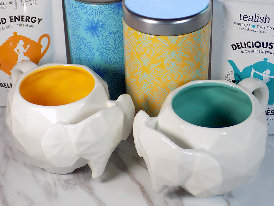 Avon Elephant Mugs, Tea Tins and Tealish tea