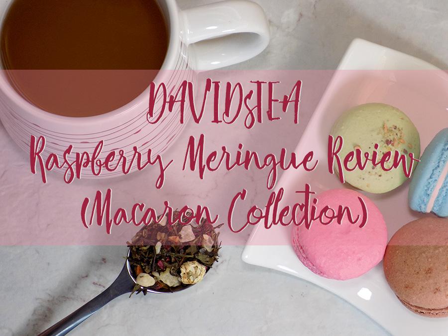 DavidsTea Raspberry Meringe Tea Review Header