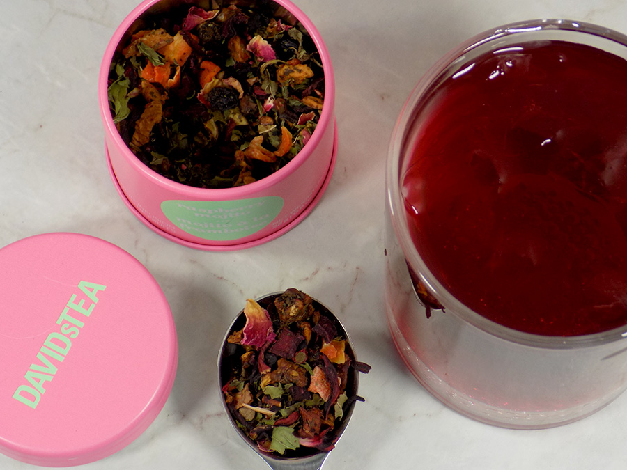 DavidsTea Raspberry Mojito Tea Review - 2017 Davids Tea Cocktail Collection Tea Reviews