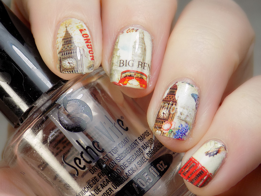 big Ben London Nail Decals Born Pretty BLE Nail Sticker - Non Transparent 37307
