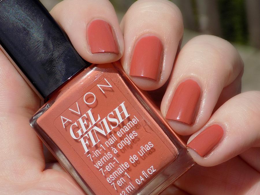 Avon Gel Finish Terracotta Nail Polish Swatch In Sunlight Tea Amp Nail Polish