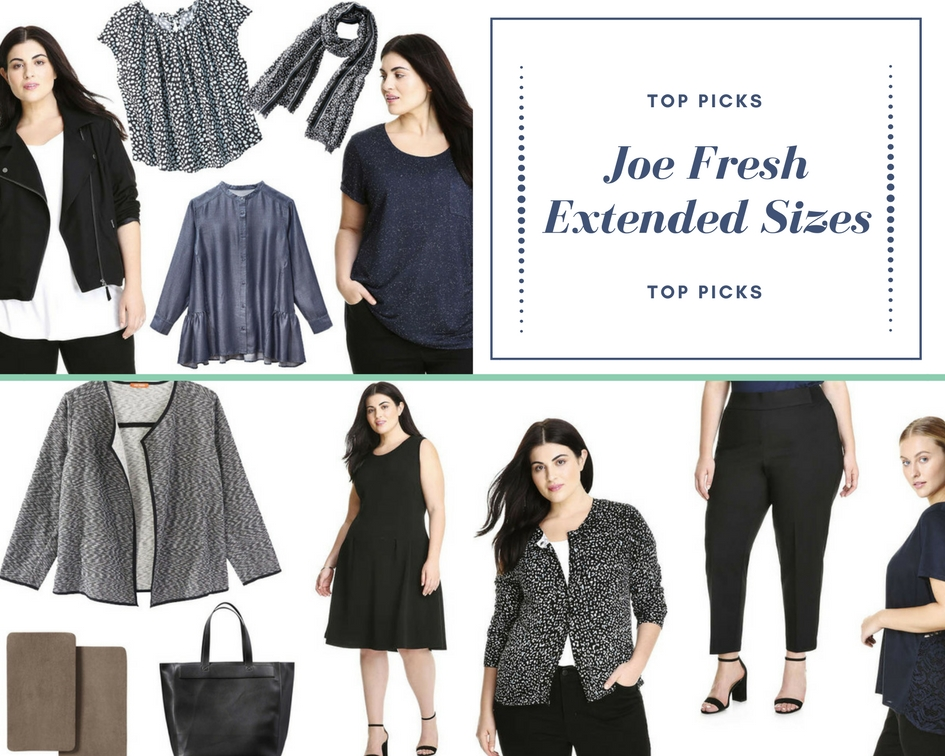 Joe Fresh Extended Sizes and Plus Sizes Fall 2017 Release Collection
