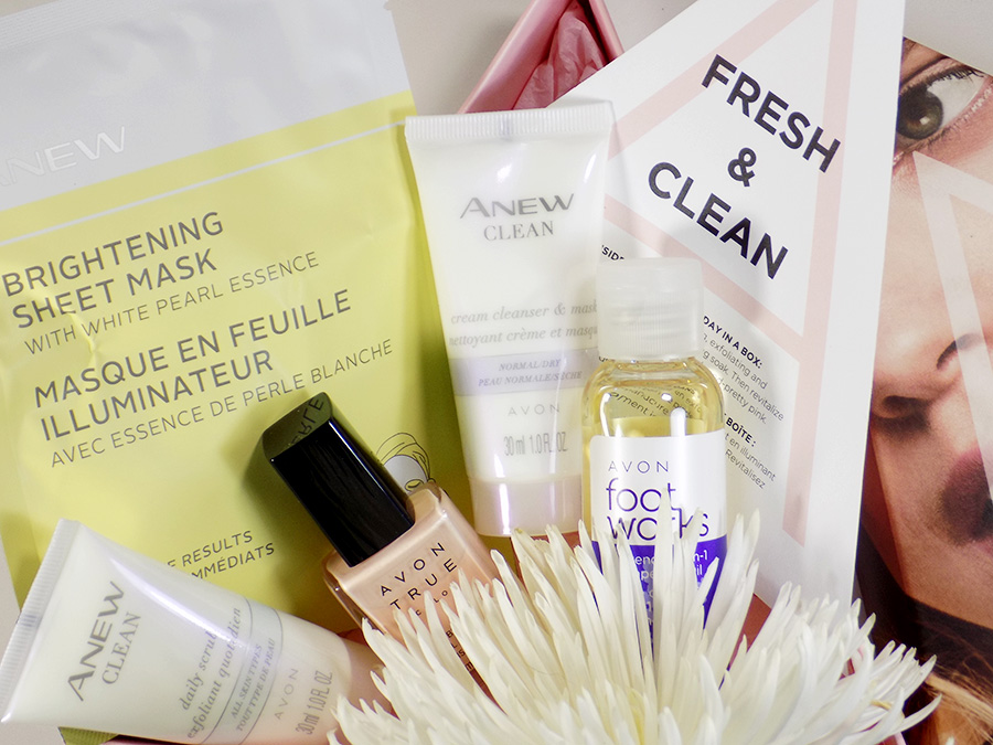 Avon A Box Fresh and Clean Fall 2017 - All Products with Packaging and Info Card
