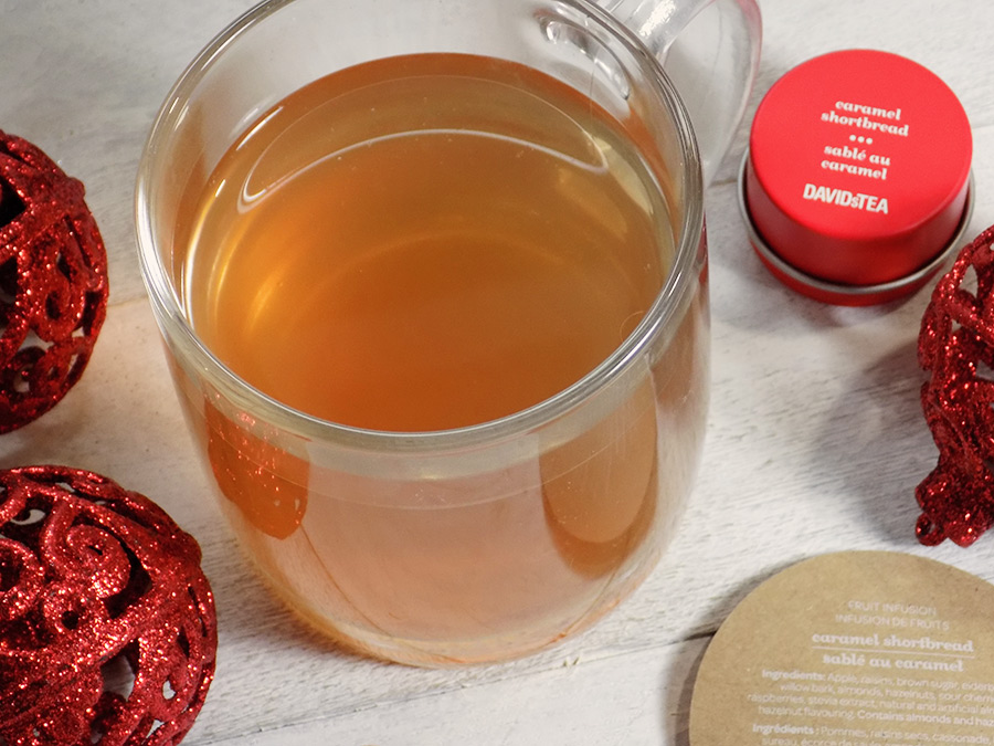 DAVIDsTEA Caramel Shortbread Tea Review - Holiday 2017 Tea Davids Tea